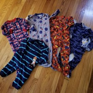 2t boys fleece pj sleeper pajama bundle lot